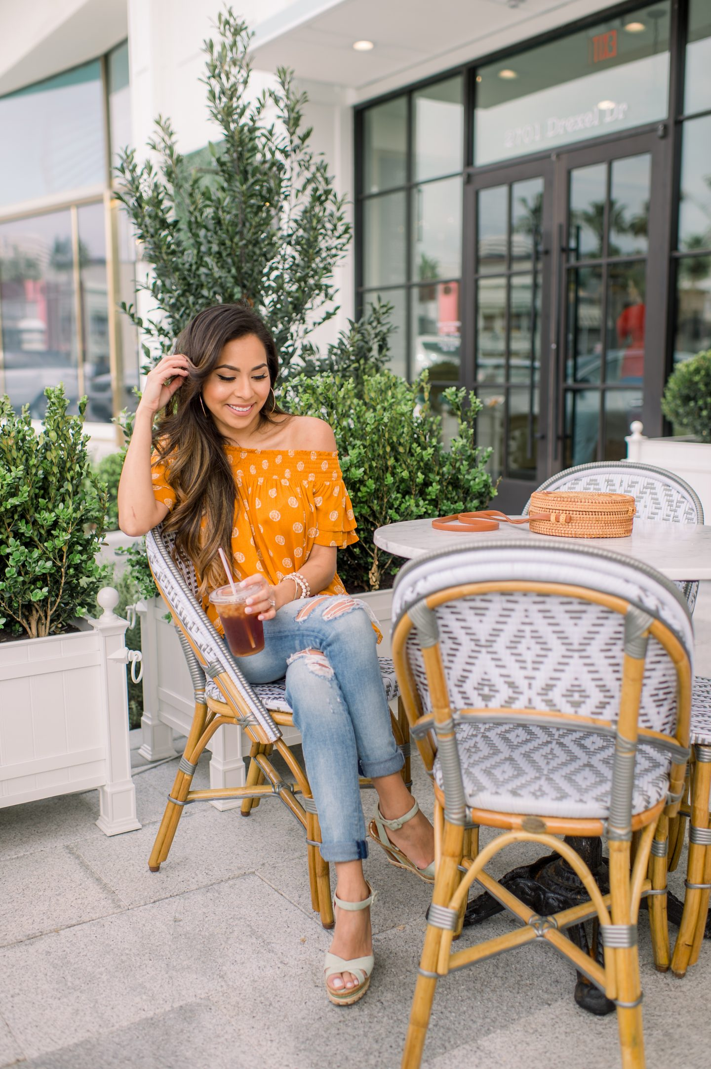 Spring Ready in this Yellow Off-the Shoulder Top